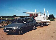 It is posible to tow with a modest car.